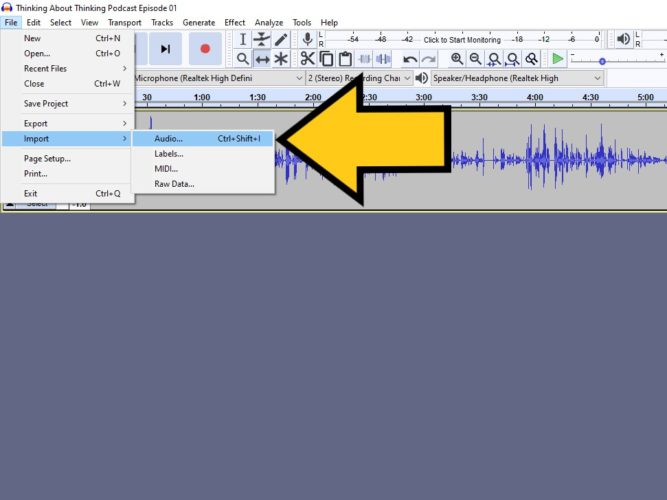 add sound effects in audacity