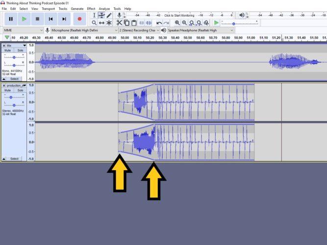 increase or decrease the audio level