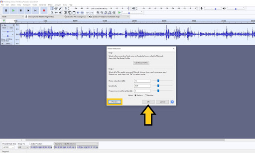 navigate back to noise reduction