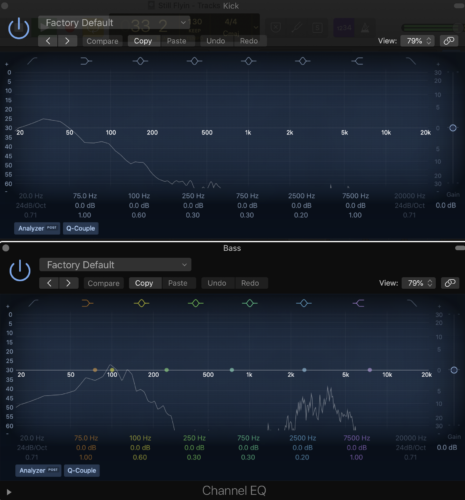 using complimentary EQ