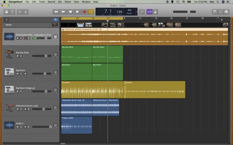 Split into an audio track