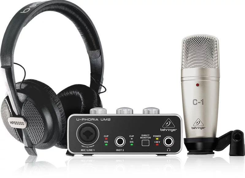 Behringer U-Phoria Studio Recording Bundle