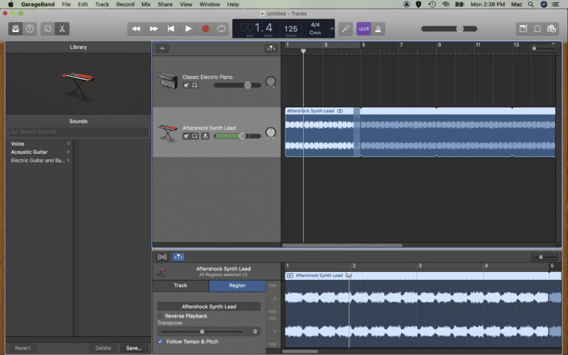 loop the audio to the end of your project