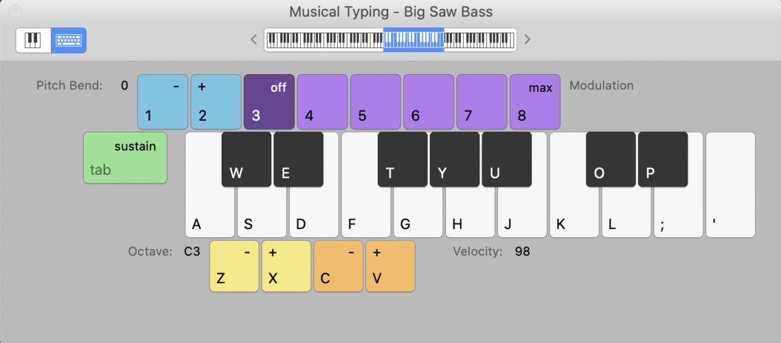 piano style keyboard