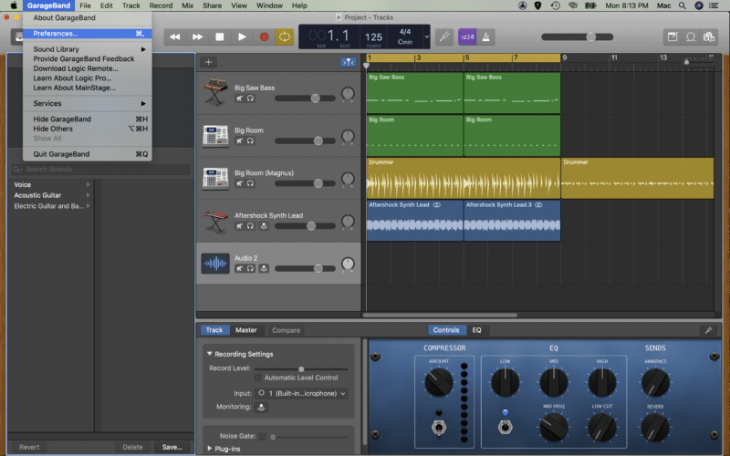 select change the input to your audio interface