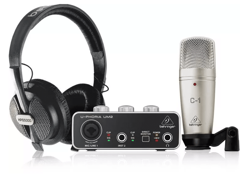 Behringer U-Phoria Studio Recording/Podcasting Bundle