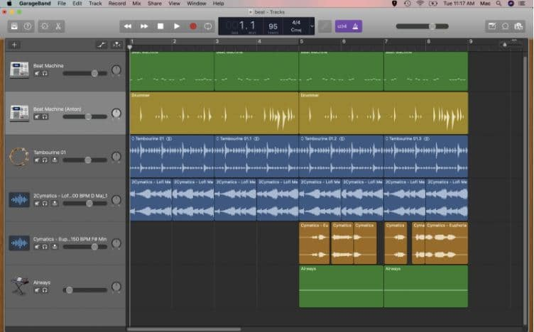 garageband shortcuts for faster workflows