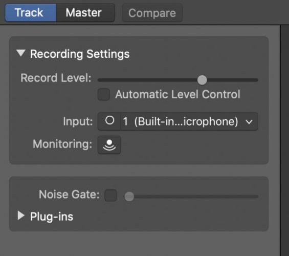 correct microphone input