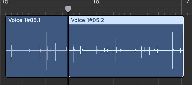 Splitting Audio Regions