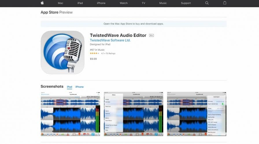 Twisted Wave Editor