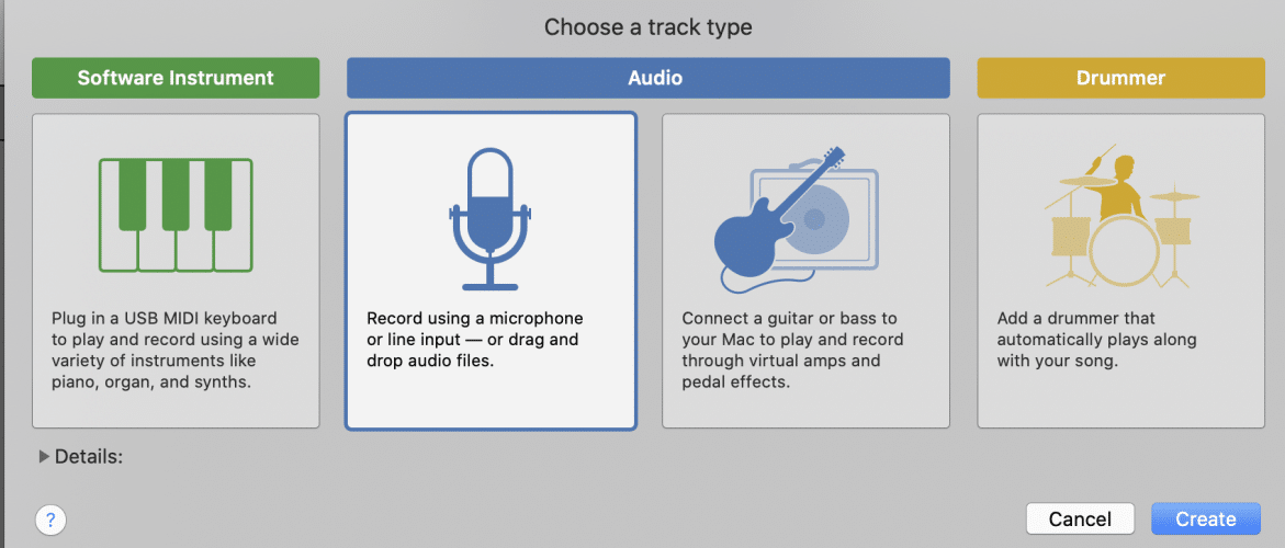choose a track type