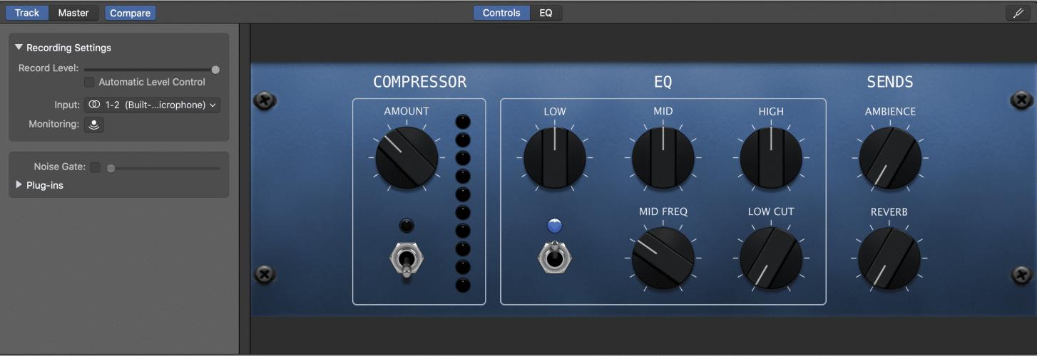 EQ controls