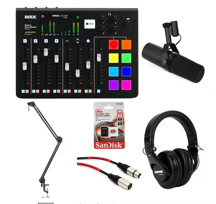 Rode RODECaster Pro Podcasting Bundle