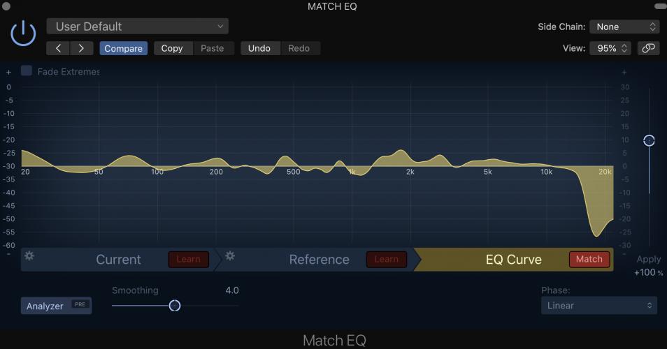 compare 3 EQ curves