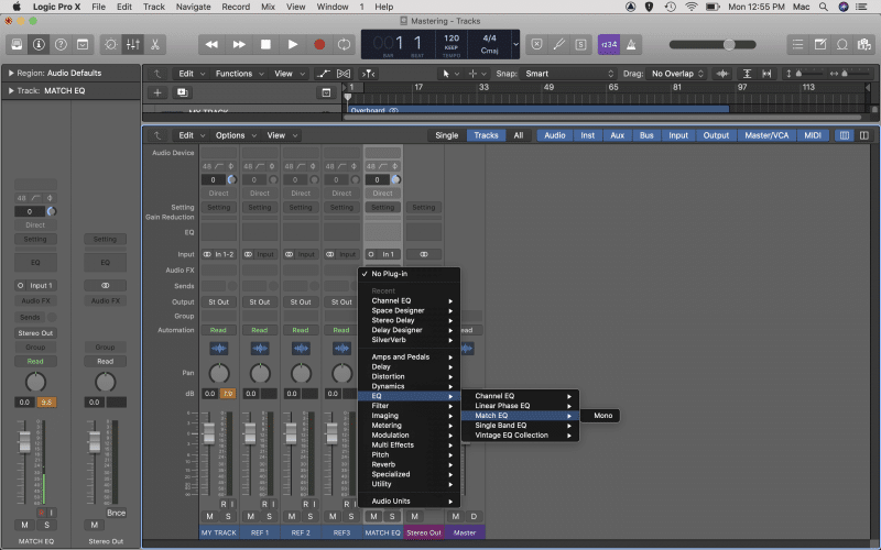 create a new audio track