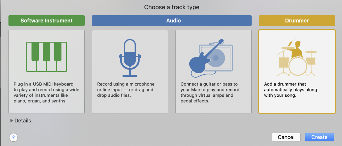 create a new track
