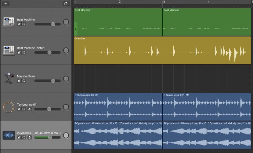 rearrange the audio