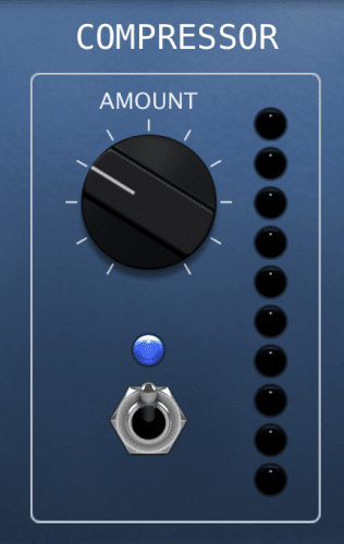 simple one-knob interface under controls